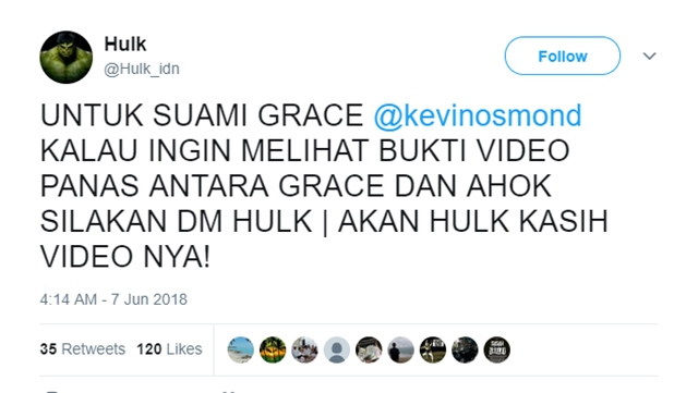 Dilaporkan ke Polisi, Ancam Sebar Video Panas Ahok dan Grace PSI
