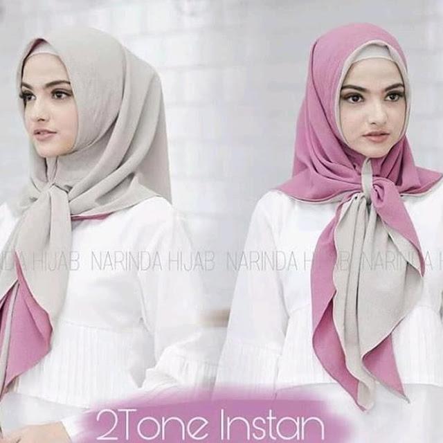 Jilbab Instan 2 Layer 2 Warna Cantik Terbaru Modis Warna Ungu