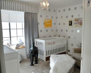 cuarto de bebé polka dot