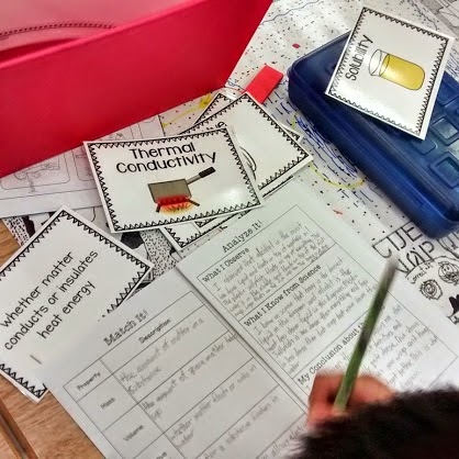 Picture of Matter and Materials Stations @ http://teachingisagift.blogspot.ca