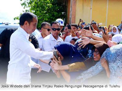 Joko Widodo dan Iriana Tinjau Posko Pengungsi Pascagempa di Tulehu