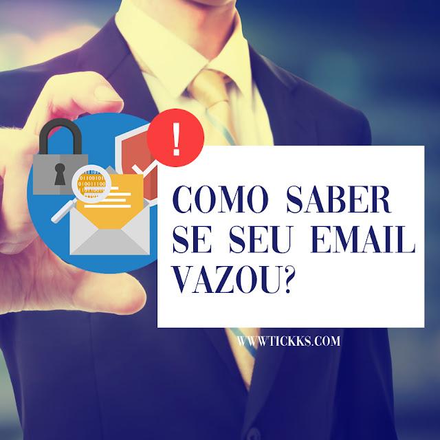 email comprometido em vazamentos de dados