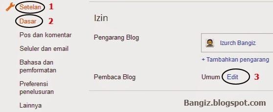 Setelan dasar blog