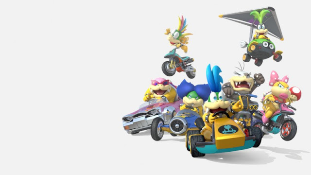 Mario Kart 8 Koopalings group photo Lemmy Iggy Roy Ludwig Larry Morton Wendy