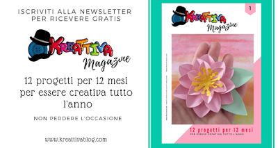 Rivista gratuita Kreattiva Magazine con 12 progetti per 12 mesi