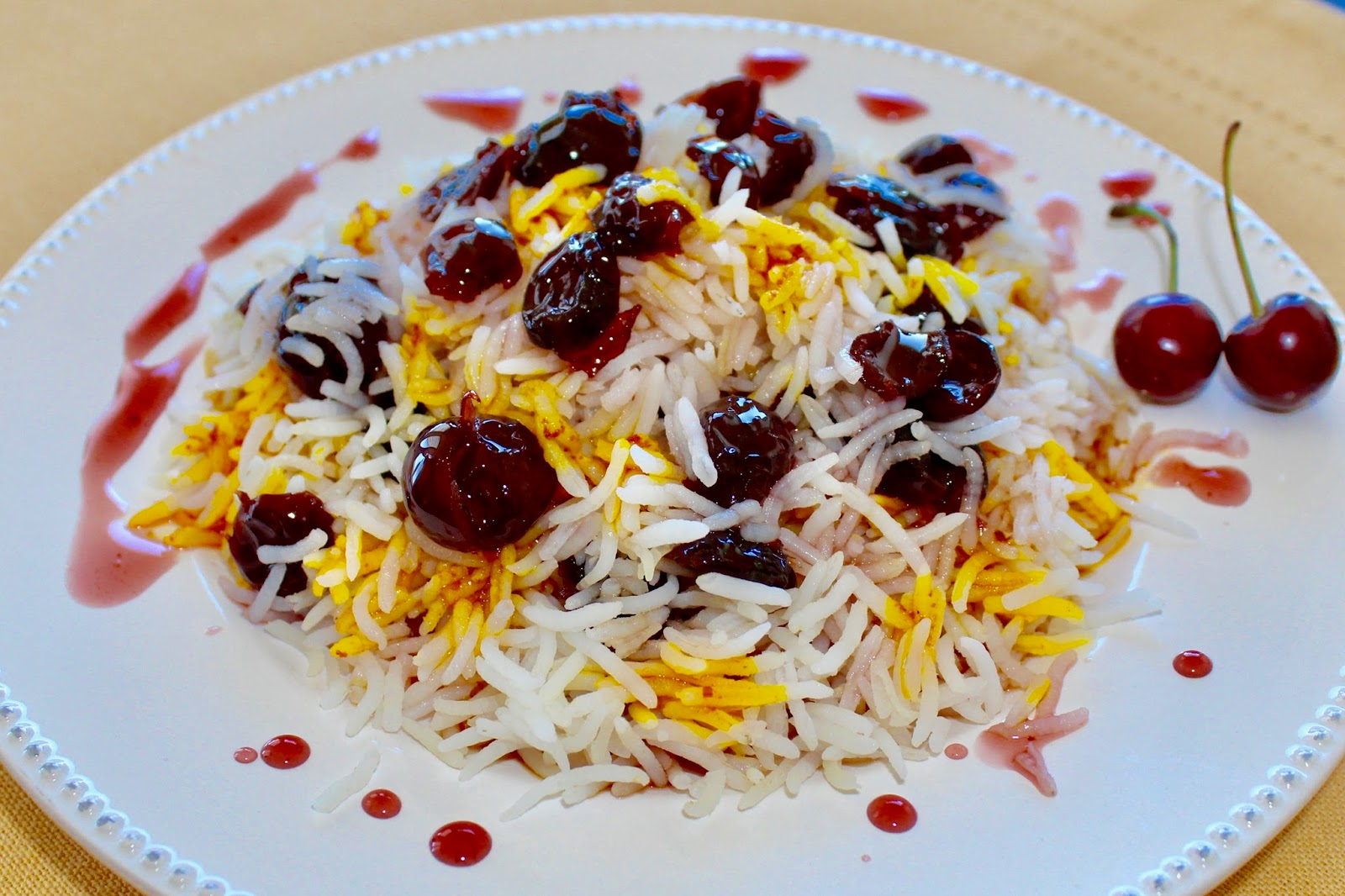 Albaloo Polo- Sour Cherry Persian Rice for New Years