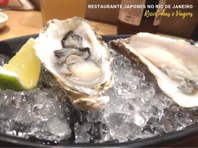 Restaurante japonês Rio de Janeiro que serve ostras frescas