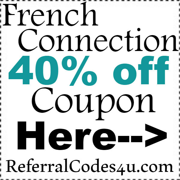 French Connection Canada Promo Code 2016-2017, French Connection Coupon October, November, December