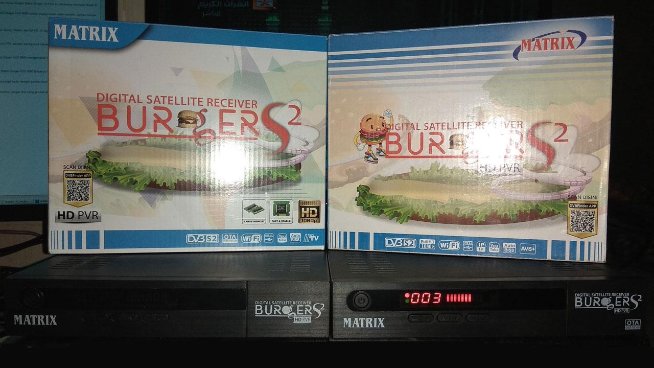 Cara Membedakan Receiver Matrix Burger K5S 8MB Dengan 4MB