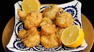 Coliflor Frita con Salsa de Limon