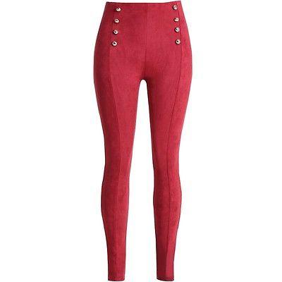 Bayan süet pantolon kırmızı kombin