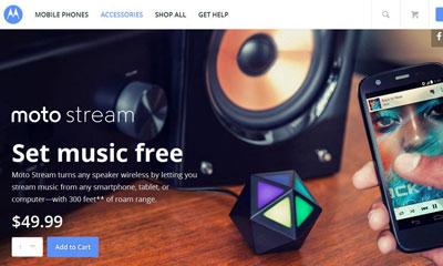 Motorola Moto Stream, Perangkat Pintar Untuk Putar Musik