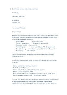 59 Contoh Surat Lamaran Kerja Promotor Oppo