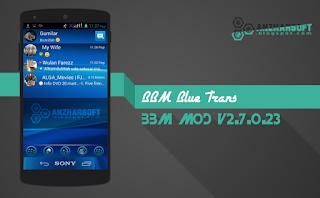 BBM BlueTrans - BBM Mod Android dengan Tampilan Dual Theme Transparent dan Change Background
