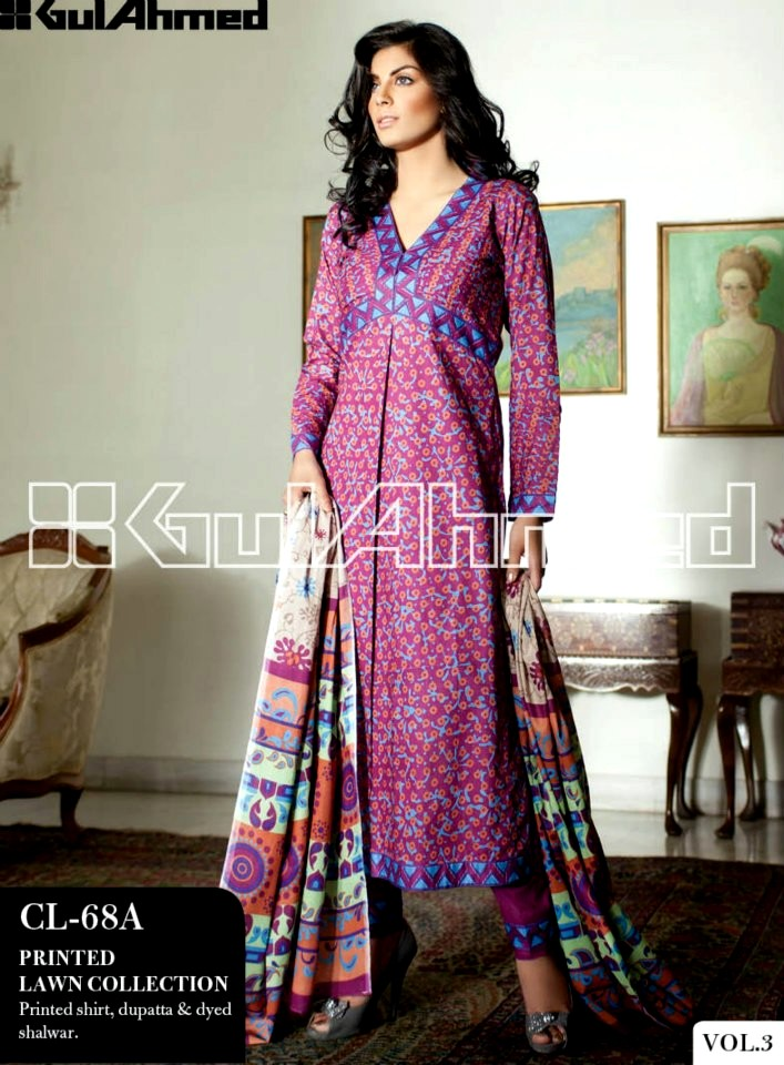 ac6c10e1c2 Gul Ahmed Summer Lawn Collection 2013 Vol 3 | New Summer Lawn Designs 2013  Vol 3 By Gul Ahmed | Fashion Hairstyles For Kids