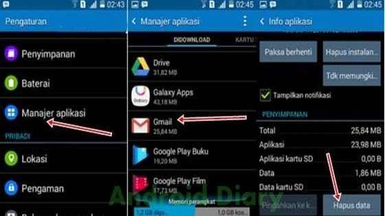 akun gmail atau lebih di dalam satu perangkat Android pasti sangat menyenangkan Cara Menghapus Salah Satu Akun Gmail (Google) di Android
