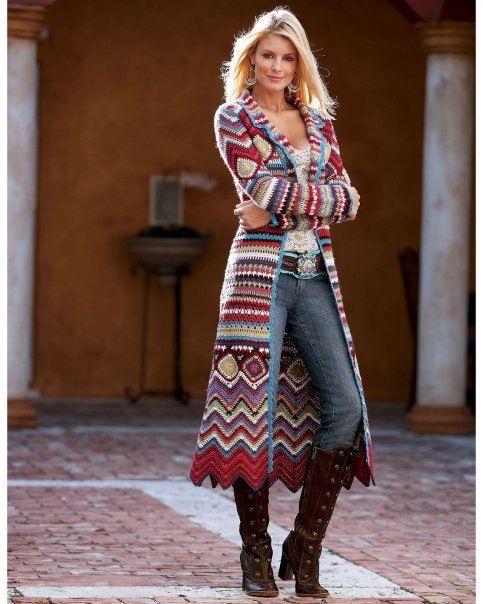 Patrón #1248: Chaqueta a Crochet