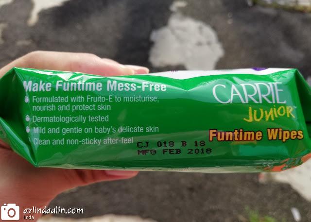 Tisu Basah Carrie Junior Funtime Wipes Untuk Keriangan Tanpa Henti