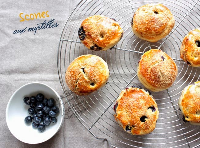scones myrtilles