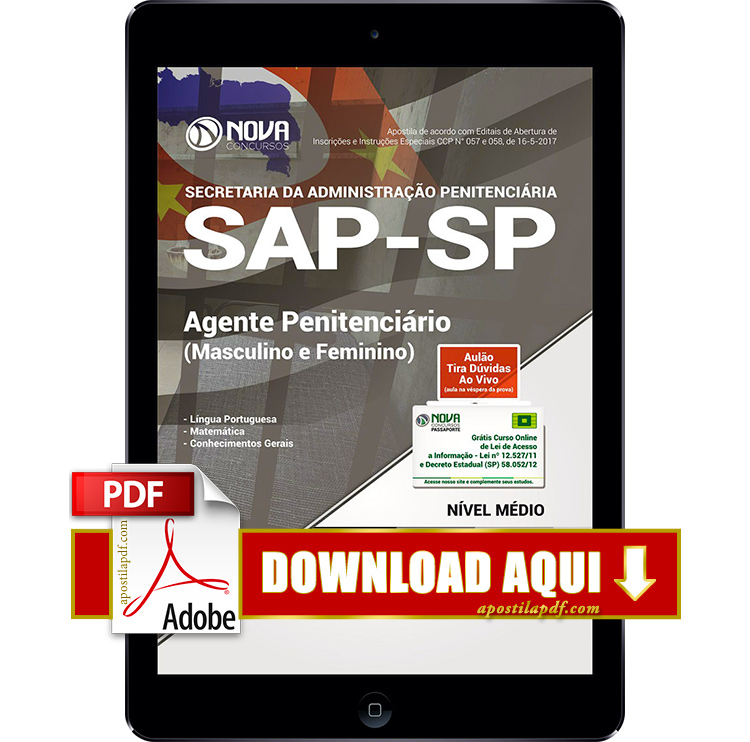 Apostila Agente Penitenciário SP 2017 PDF Download Digital