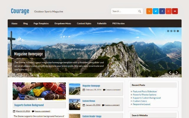 Courage - Free WordPress Theme for Personal blog