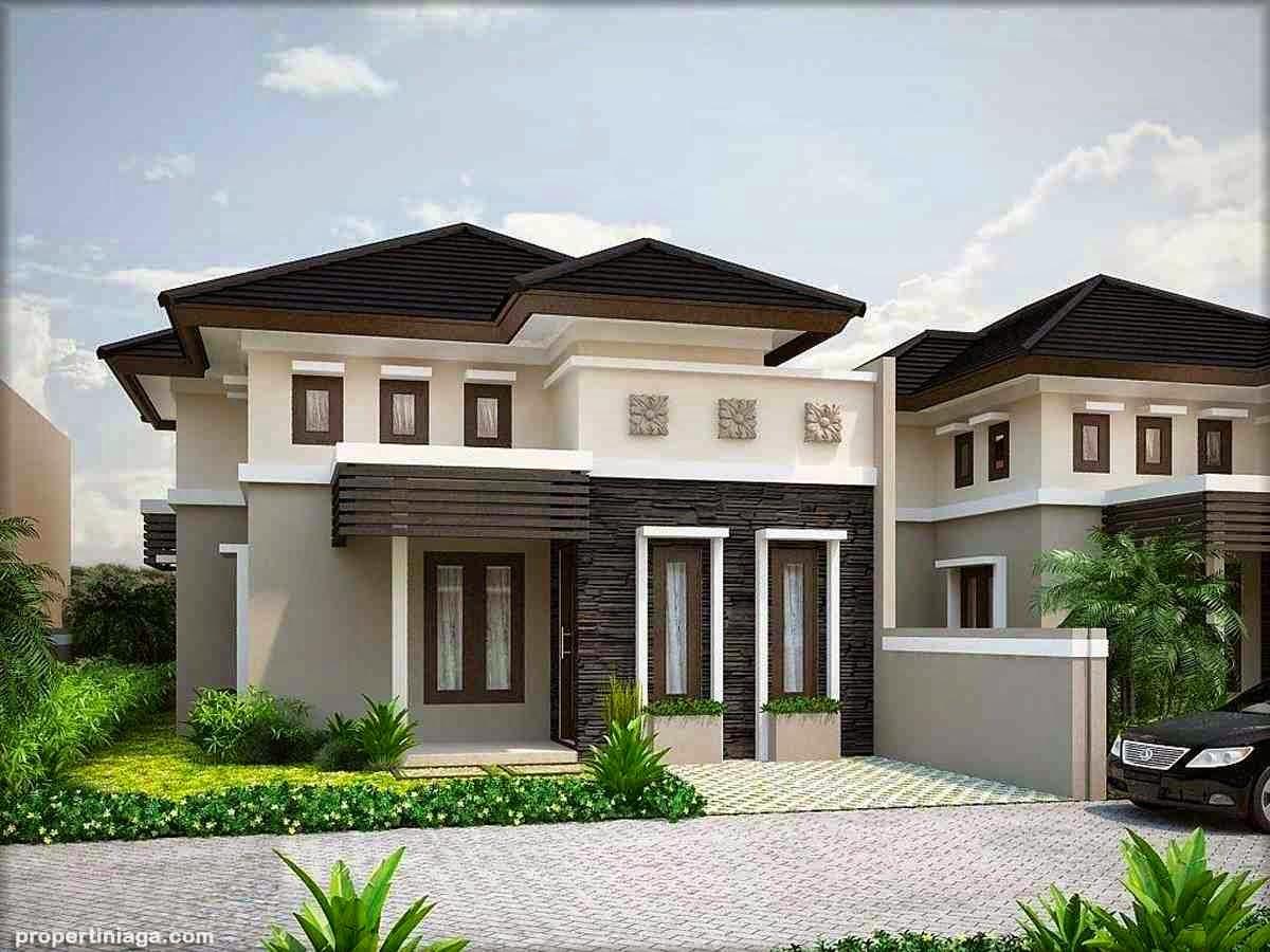 Joelnicolas Kombinasi Warna Cat Rumah Sederhana Tampak Depan Kombinasi cat warna putih