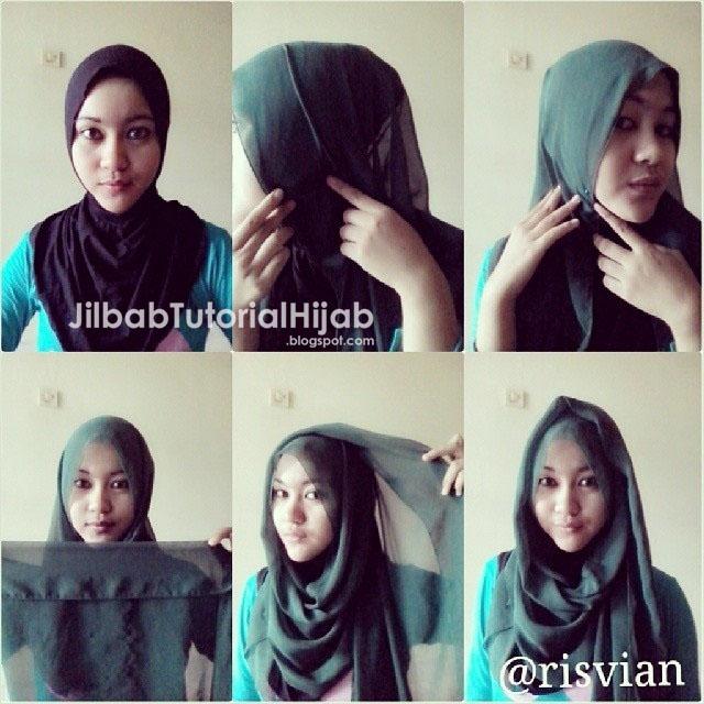 sutra yang simple dan dengan sedikit modifikasi yang membuatnya terlihat modis Cara Menggunakan Hijab Pashmina