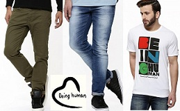Being Human Men's Clothing – Heavy Discount on Jeans, Shirts, T-Shirts, Shorts starts from Rs.390 @ Koovs