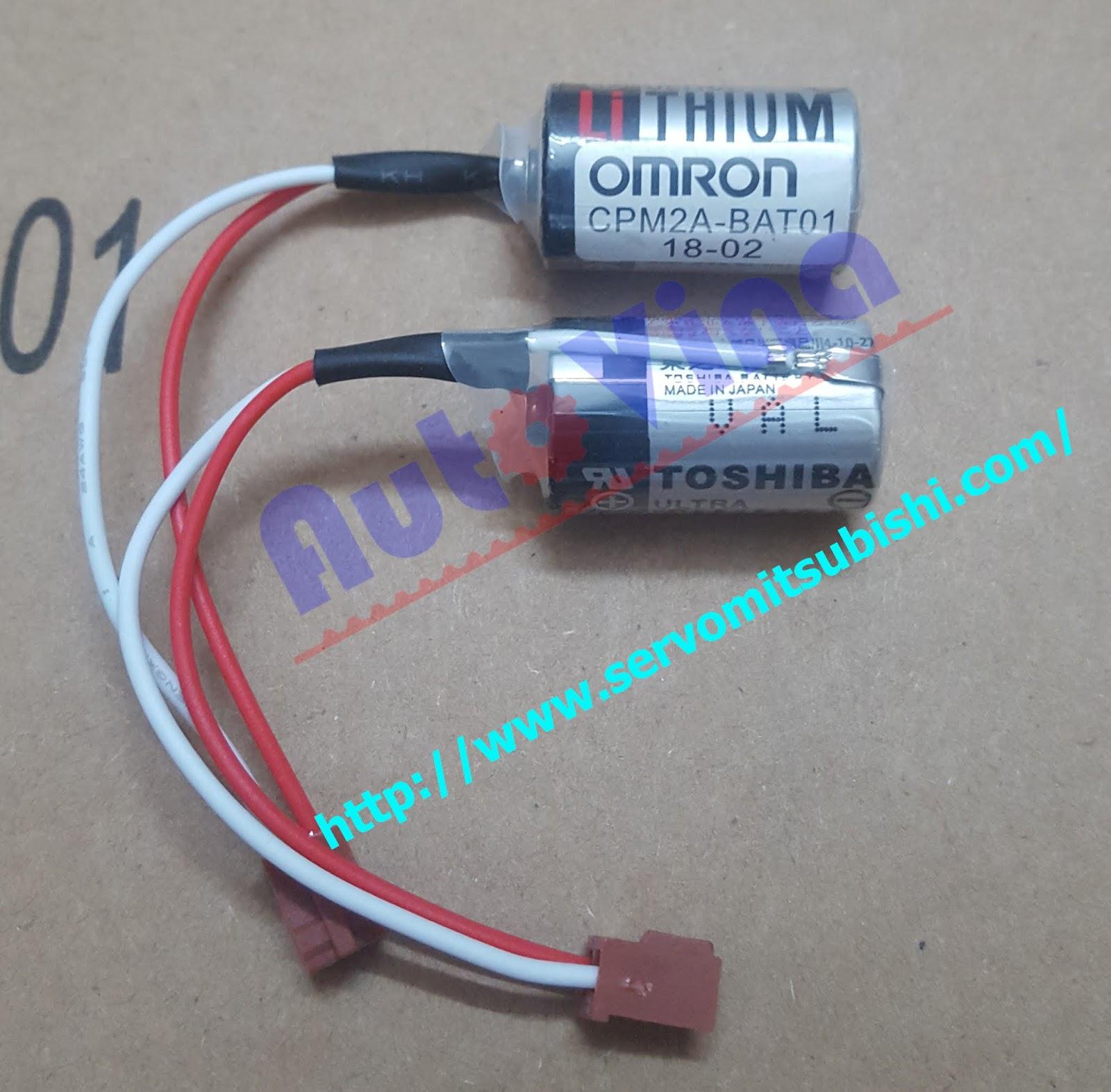 Đại lý bán pin Battery dùng cho PLC, pin Lithium Toshiba dùng cho PLC Omron model CPM2A-BAT01