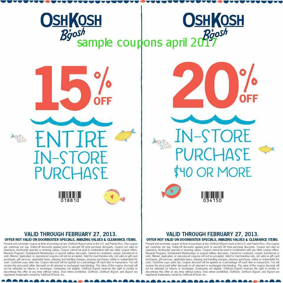 Oshkosh Coupons Codes Free Shipping 800 Flowers Coupon 20