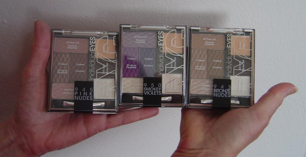 NYC New York Color Palettes IndividualEyes (950 Smokey Violets, 945 Pink Nudes, 943 Bronze Nudes)