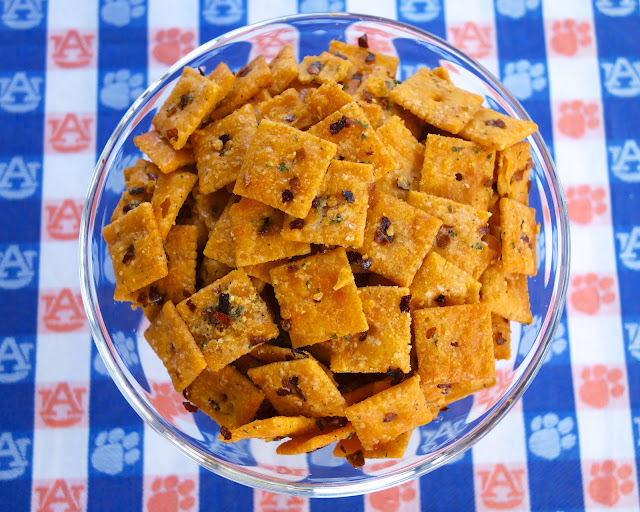 Tailgating Recipes including Spicy Cheez-Itz Fire Crackerz
