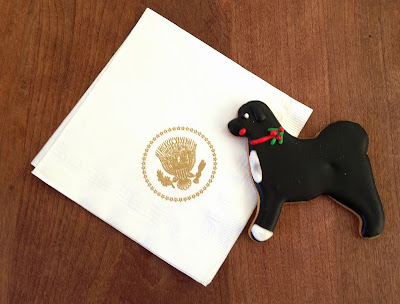 Official White House Bo Cookie & Presidential Napkin