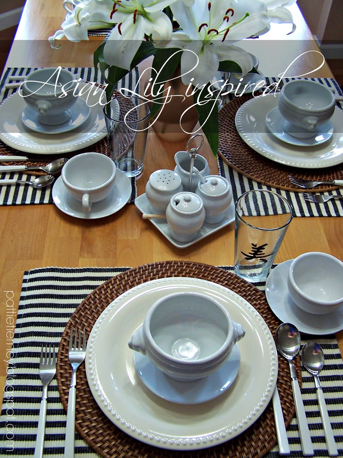 Asian Lily Inspired Tablescape