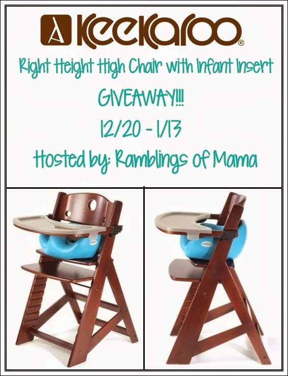 Keekaroo Right Height Highchair With Infant Insert Giveaway