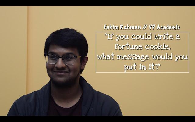 Fahim Rahman, 2015-16 VP (Academic)
