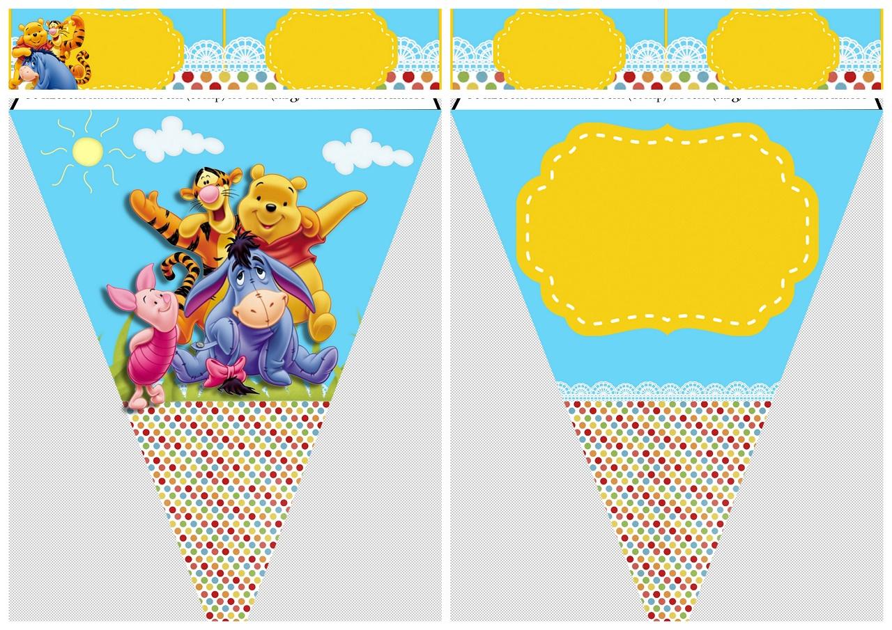 Fiesta de Winnie the Pooh: Imprimibles Gratis.   Oh My Bebé!