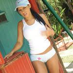 Andrea Rincon, Selena Spice Galeria 33: Gorra Azul, Cachetero Azul Foto 44