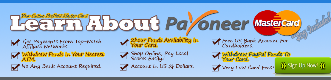 Payoneer Card - $25 Bonus Payoneer Card For You
