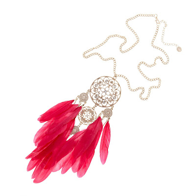Equip Long Feather Necklace