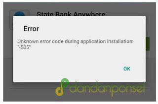 Cara Mengatasi Error 505 di PlayStore