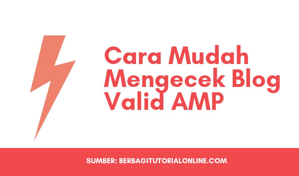 Cara Mudah Cek Blog atau Website Apakah Valid AMP