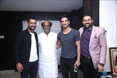 Thala Dhoni Meets Thalaivar Super Star Rajini