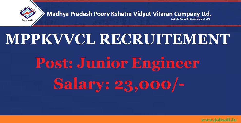 Mppkvvcl Jabalpur  Recruitment, engineering Jobs, MP JE Recruitment