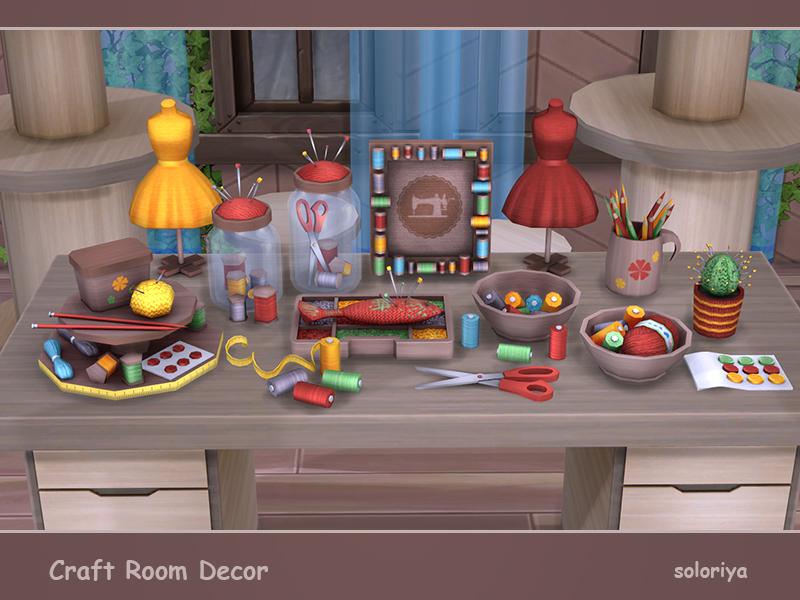 Soloriya craft room decor sims 4 for Room decor sims 4