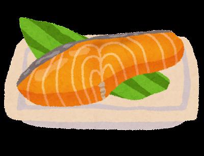 焼き鮭のイラスト