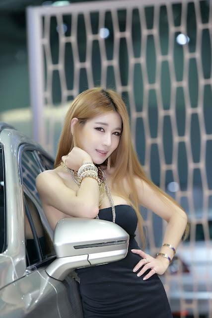3 Park Si Hyun Sexy In Black - very cute asian girl-girlcute4u.blogspot.com