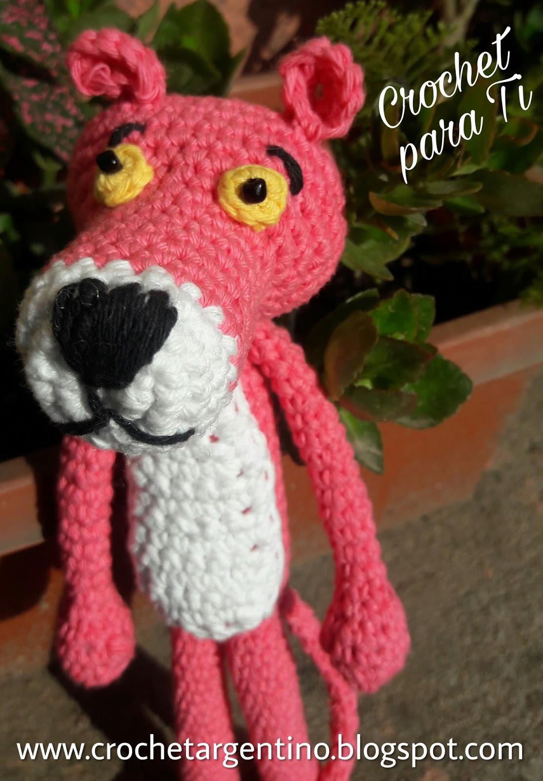 Pantera Rosa - Amigurumi - Patrón Español ~ Crochet para Ti