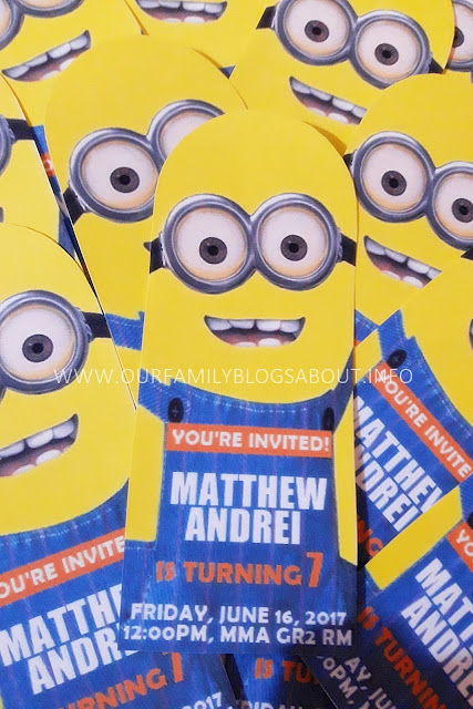 DIY, Despicable Me, Minions, bookmark birthday invitation