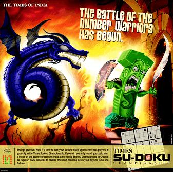 Times SuDoku Championship 2012 Bangalore